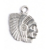 Pendant Indian Head Antique Pewter